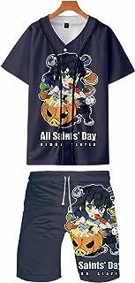 Demon Slayer 3D Stampato Baseball Tute Anime Tanjirou Agatsuma Gdiyuu Cosplay Activewear Set Kimetsu no Yaiba Baseball Bot...