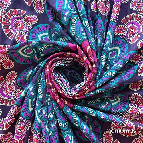 MOMOMUS Wandteppich Mandala Hippie - 100% Baumwolle,...
