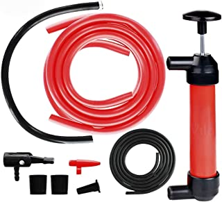 "Manual Siphon Pump Kit - Heavy-Duty, Hand Pumping Pipe - Fast Acting 15"" Siphon Tube - Variety of Uses from Automotive, Rain Barrels to Water Gardens"