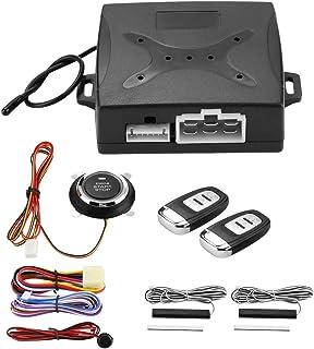 Auto Alarm Sicherheitssystem, Universal Auto Alarm System Fernstart Anti Diebstahl Sicherheitssystem Motor Zündung Keyless Entry Push Button Remote Starter mit doppelter Fernbedienung