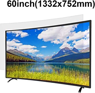 KUYUC Anti Blue Light 60 Inches TV Screen Protector, LED Ultra-Clear Screen Filter, Eye Protection Anti-Glare Filter Film, LCD Anti-Scratch Screen Protector (Color : A)
