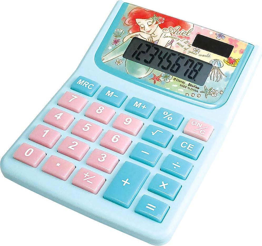 法的一回敏感なティーズファクトリー ディズニー 電卓 アリエル H2.8×W10×D12.5cm DZ-79772
