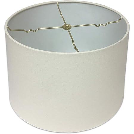 Royal Designs Shallow Drum Hardback Lamp Shade Linen Cream 17 X 18 X 11 5