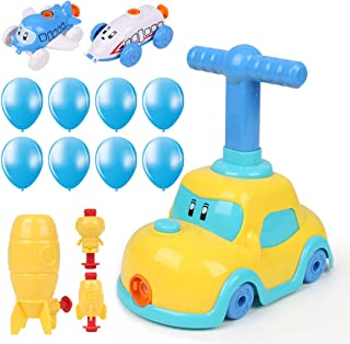 yeesport Kids Balloon Powered Car Set Cartoon Car Balloon Racer Educational Science Toy Aerodynamic Car Toys Car Balloon R...
