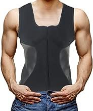 DODOING Herren Neopren Taille Trainer Weste Reißverschluss Heißer Sweat Shirt Body Shapers Korsett für Männer Schweiß Workout Fitness Westes Gewicht Verlust