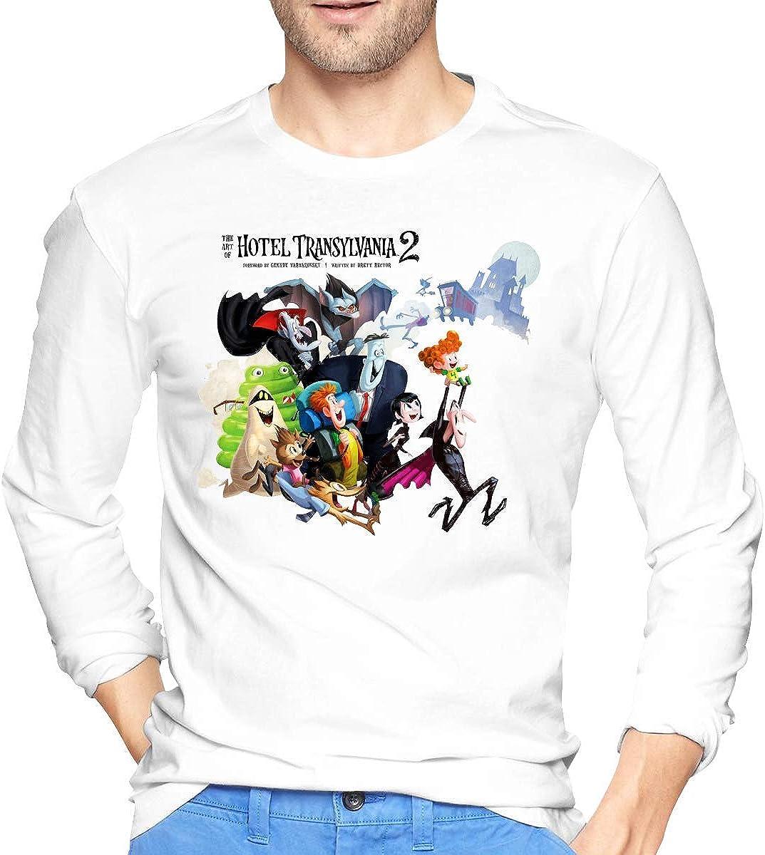 SuperBoxD T-Shirt /à Manches Longues pour Hommes Hotel Transylvania Blanc