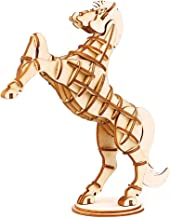 Rolife Build Your Own 3D Wooden Assembly Puzzle Wood Craft Kit Horse Model, Gifts for Kids and Adults