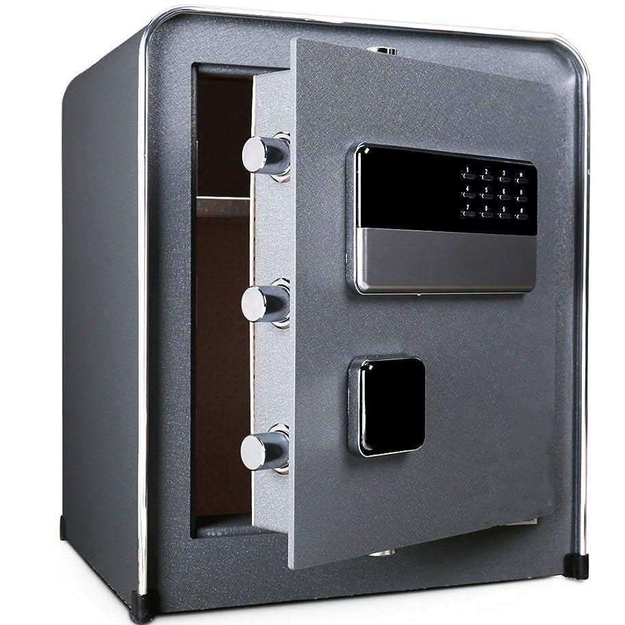 評価可能樫の木セメント金庫 金庫家庭用小型セフティボックスにウォールミニすべてのスチールベッドサイドテーブルの理想のために保管現金ジュエリー重要な書類 保管庫 (Color : Gray, Size : 45x32x38cm)