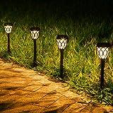 JOYCREATOR Solarleuchten für Außen Garten, 6 Stück LED Solarlampen für Außen Garten mit IP44...