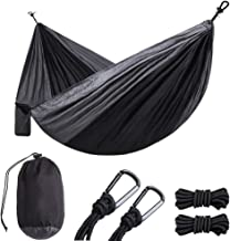ONCIN Portable Camping Hammock, Outdoor Hammocks with Tree Straps, Carry Bag, Steel Carabiners, Lightweight Single Double ...