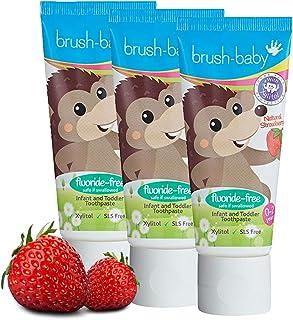 brush baby Non-Fluoride Strawberry Toothpaste 50ml, Piece of 1