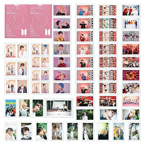 Kingmia Poster, 54 Stck Postkarte Rap Monster, Jung Kook Jimin, V, Suga Jin J Hope Mini Fotokarten Set Geschenk fr ARMY