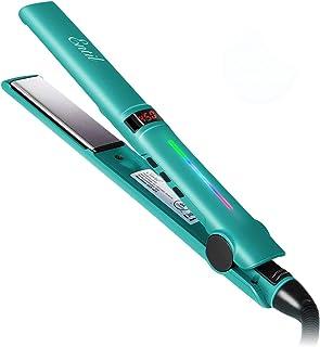 [Promotion محدود] Entil Hair Straighten Iron Flat with 1 Inch یونیک سرامیک تیتانیوم صفحات ارتقاء ابزار حرفه ای سالن قابل تنظیم درجه حرارت سریع بالا