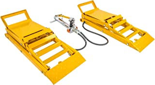 JEGS 79004 Hydraulic Car Lift Ramps Capacity: 3000 lb/pair
