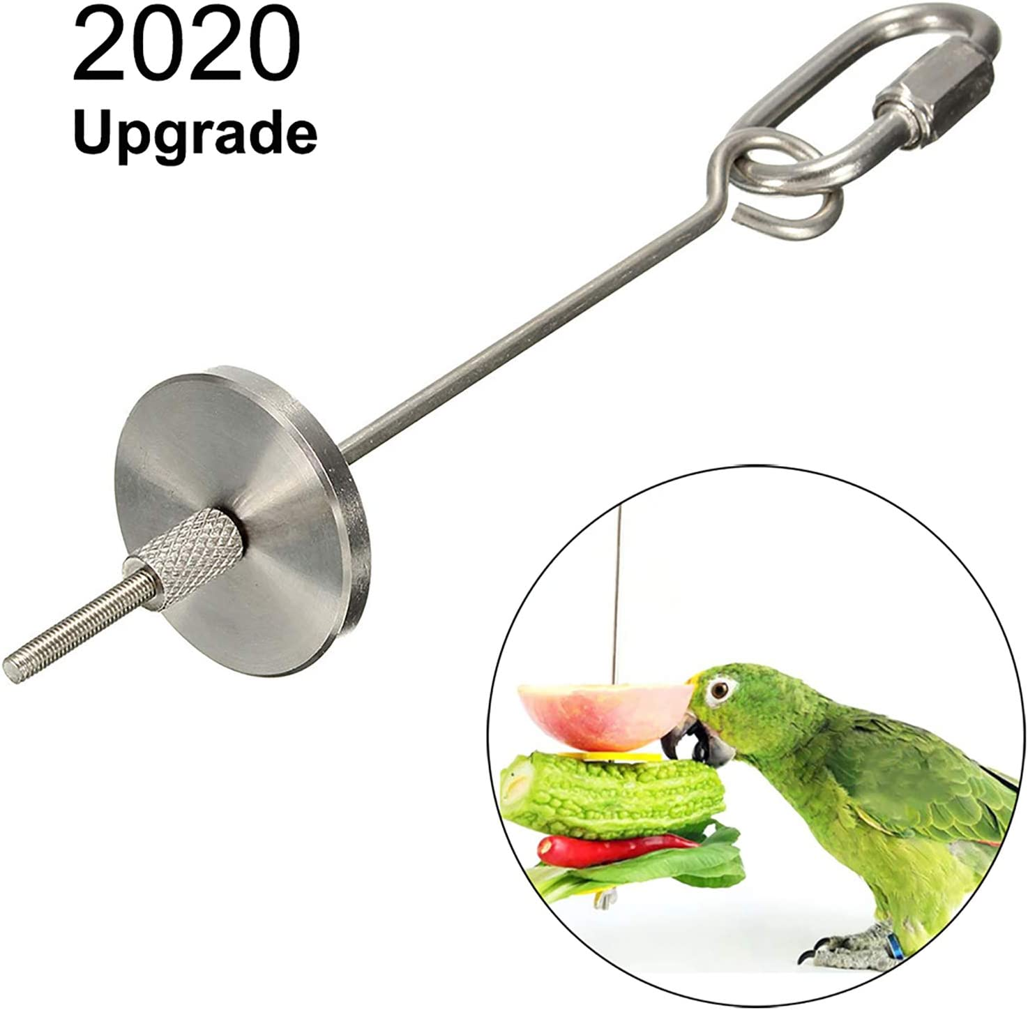 para comida de aves juguete para colgar p/ájaros peque/ños animales para gallinas Pincho para frutas verduras para colgar de acero inoxidable herramienta de alimentaci/ón para loros