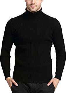 Thick Winter Warm Cashmere Sweater Men high Collar Sweaters Slim Fit Man Classic Wool Sweater