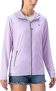 Women's UPF 50+ Hooded Qucik Dry Lightweight Long Sleeve Zip Up Jacket Packable