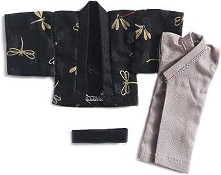 オビツ11サイズ衣装 オビツボディ 11cm用 和服 着物 浴衣 3点セット ブラック