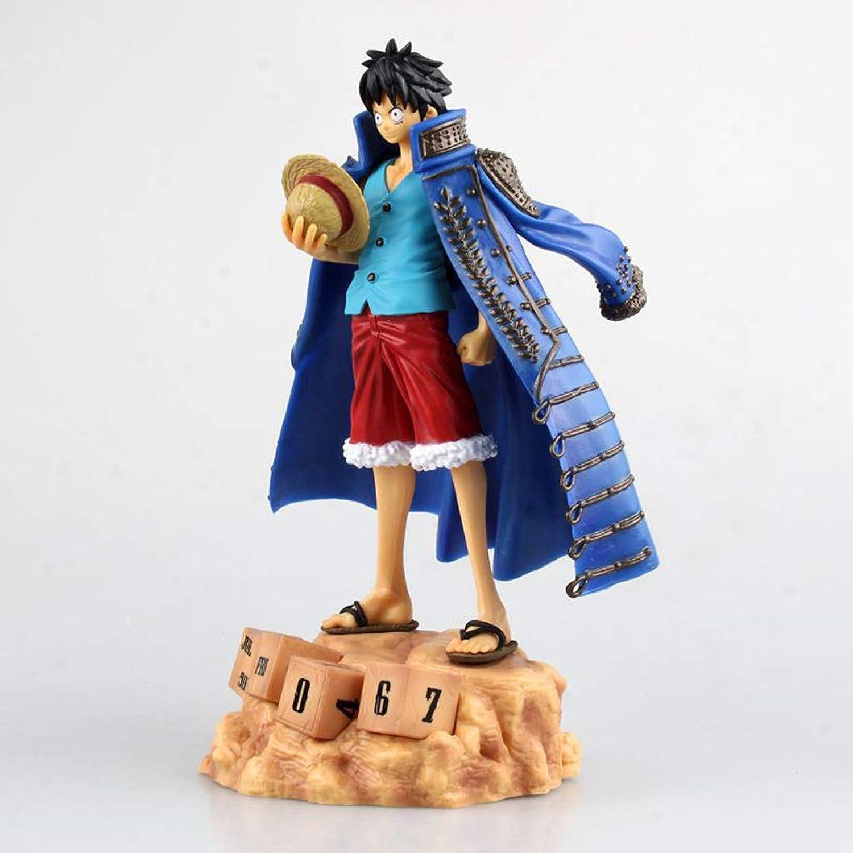 Con 100% de calidad y servicio de% 100. Qivor Estatua de de de Juguete Modelo de Juguete de una Pieza Exquisito Anime Decoración Decoración Sombrero de Paja Luffy 20CM (Color   azul)  presentando toda la última moda de la calle