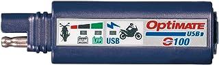 TecMate OptiMATE USB O 100, Kombination 2400mA USB Ladegerät und 3 LED Batteriemonitor, mit Fahrzeugbatterieschutz.