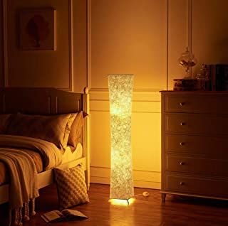 Fy-Light LED Floor Lamp, Modern Design Fabric LED Floor Lamp for Living Room with 2 Bulbs Simple Natural Warm Atmosphere- 52 inch Tall Lamp