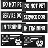 8 Pieces Reflective Dog Vest Patches, Removable Tactical Patches for Dog Harness Service Dog in Training and Dog Halter Patches with Printed Dog Paw (Classic Patterns,3 x 1.2 Inch)