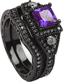 Best black and purple wedding rings Reviews