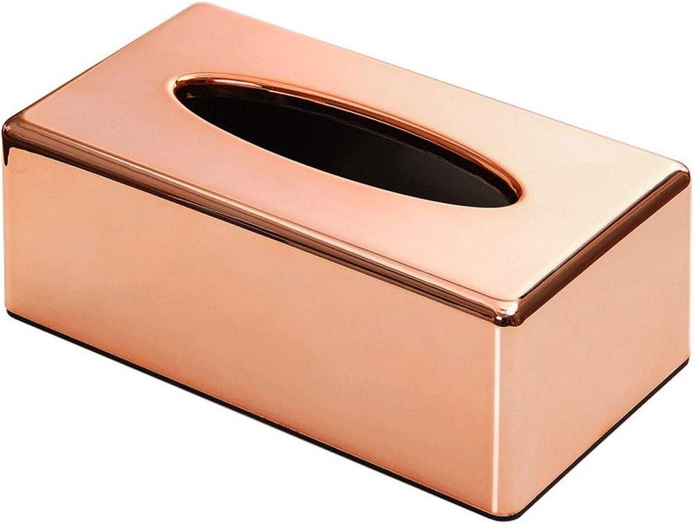 LUAN Tissue Box Holder Ca Memphis Mall It is very popular Rectangular Car Gold