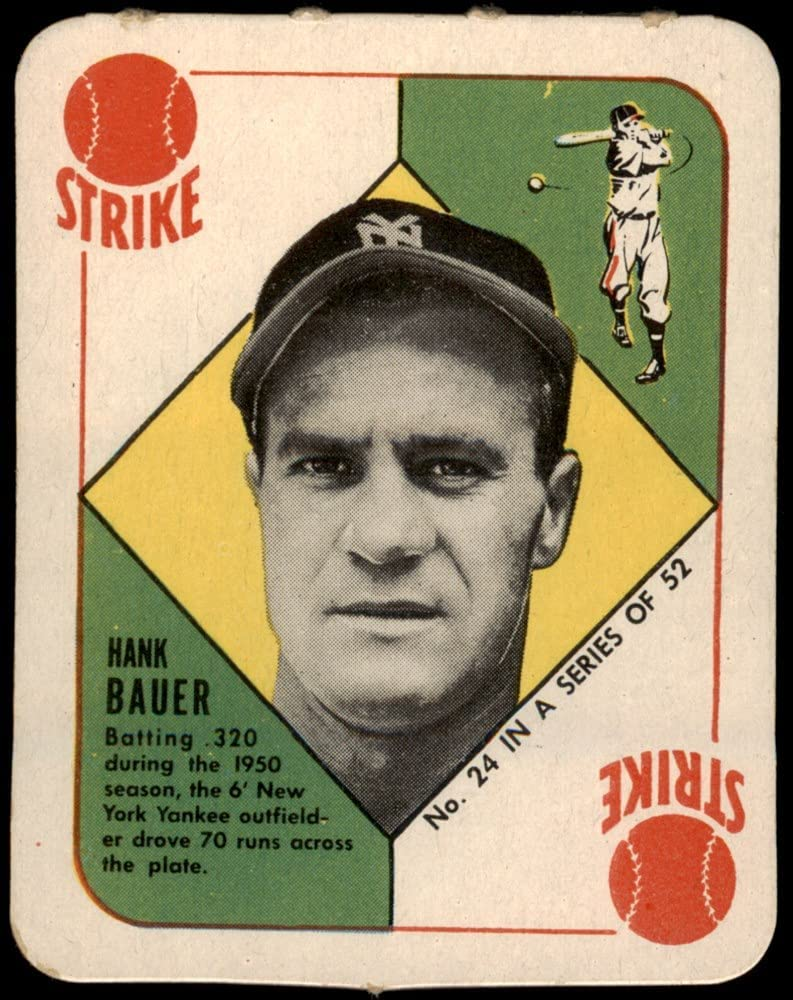 1951 Topps # 24 Hank Bauer New Card York EX Recommendation M Time sale Baseball Yankees