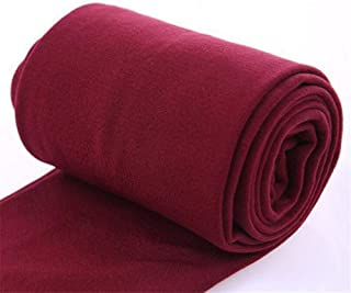 Women Autumn Winter Thick Warm Legging Brushed Lining Stretch Fleece Pants Trample Feet Leggings High Elasticity Leggings (Color : W085 M Red Wine, Size : One Size)