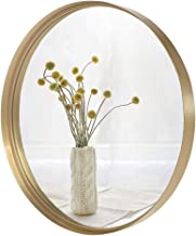 VINGLI 30-inch Gold Round Wall Mirror, Metal Framed Round Wall Mounted Decorative Mirror, Modern and Contemporary Decor fo...