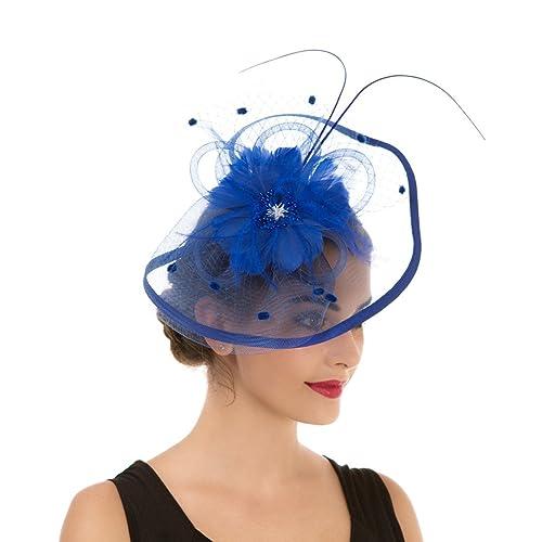 4c109b1e1a904 LUCKY Leaf Las mujeres chica tocados pelo Clip Horquilla sombrero boda  coctel Tea Party sombrero de