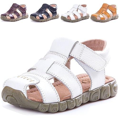 6f9ea67f35f69 LONSOEN Leather Outdoor Sport Sandals