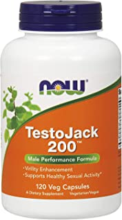 NOW Supplements, TestoJack 200 with Tongkat Ali, Tribulus, Maca and Horny Goat Weed, 120 Veg Capsules