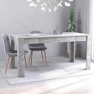 vidaXL Table de Salle à Manger Table à Dîner Table de Cuisine Table de Repas Meuble à Manger Maison Intérieur Gris Béton 1...