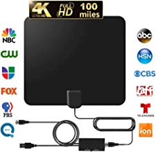 $25 » TV Antenna Amplified HD Digital TV Indoor Antenna Support 4K 1080P with Adjustable Amplifier Signal Booster 60-120 Miles Range Digital Antenna for HDTV Free View Channels