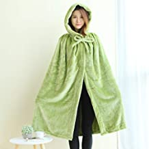 Wearable Blanket Women with 2 Hidden Clasp, Allows You to Strap on and go - Extra Soft, Warm and Cozy Sherpa Fleece Throw ...