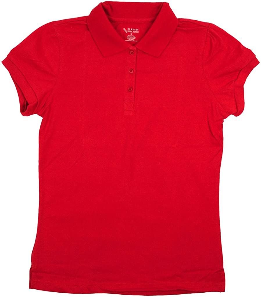 Classic School Uniform Girls Junior Short Sleeve Polo Shirt