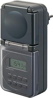 Brennenstuhl Digitale Wekelijkse Timer, IP44, Digitale Timer-Stopcontact, Weektimer Voor Buiten, Met Verhoogde Aanraakbesc...