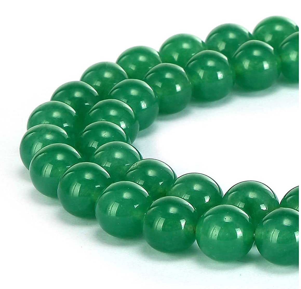AAA Natural Green Agate 8mm Gemstone Round Loose Stone Beads for Jewelry Making ~15.5