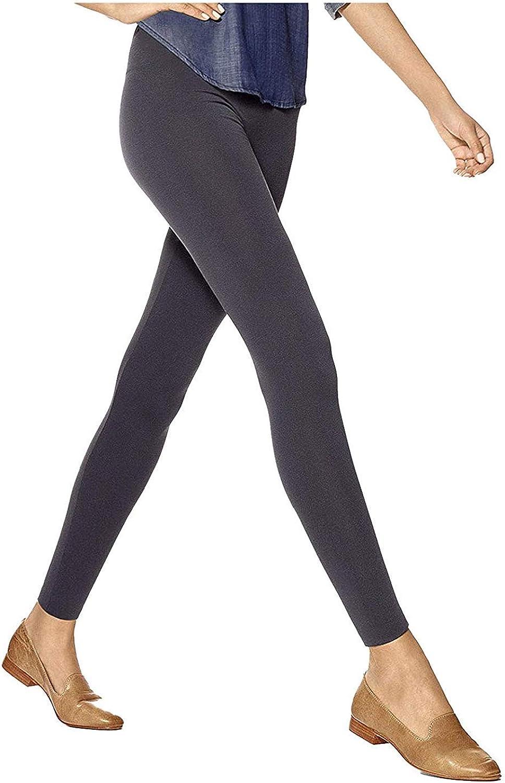 HUE Women's Brushed Seamless Leggings Cobblestone Large/X-Large