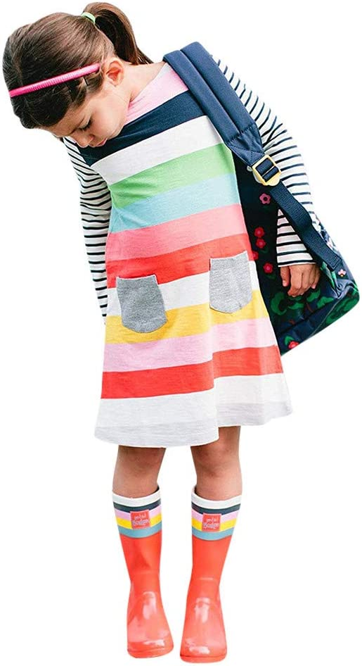 Kinder Mädchen 3D Ärmellos Kleid Prinzessin Minikleid Sommerkleid Longtop