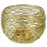 AM-Design Windlicht Draht Edelstahl rund 27cm Gold