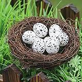 Watopi Huevos de Pascua Mini Espuma de Pascua Huevos de Pascua de Espuma Ligera para decoración del hogar, Juego de Fiesta de Pascua