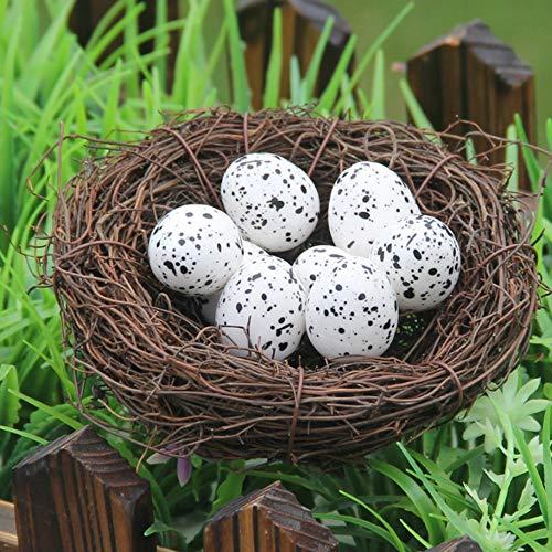 mxjeeio 2 * 2.5cm Wachteleier Natur 20 Stück | Wachtelei | Wachtel Eier | Deko Eier | Ostereier | Osterdeko | kleine Dekoeier-In Schaumstoff hergestellt