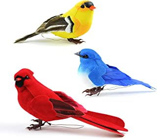 Wonderful collection vintage colorful feathered birds for holiday decorating birds liven up the place ~ Gods little creatures bring us joy
