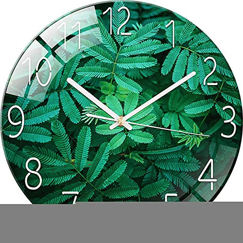 QXXZ Reloj de pared redondo moderno de 12 pulgadas, silencioso, no hace tictac, para sala de estar, dormitorio, cocina, oficina, decoración B11