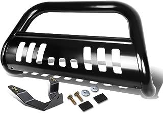 For Honda Pilot/Ridgeline 3 inches Black Bumper Push Bull Bar + Skid Plate + Relocation Kit