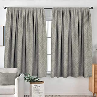 Elliot Dorothy Blackout Curtains Taupe,Italian Style Rich Flower Motifs Vintage Antique Effects Artistic Ornamental Swirls Dots,Tan,Rod Pocket Drapes Thermal Insulated Panels Home décor 42