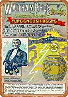 1889ウォルサムブロスビール壁飾り記号8 x 12インチ